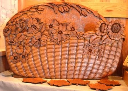 石崎悦子木彫教室展作品画像