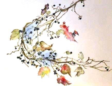 中園寿美水彩画展作品画像