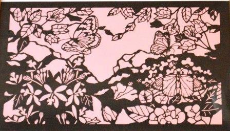 宇津木信一きり絵展作品画像